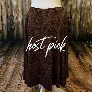 MK Brown flowy skirt